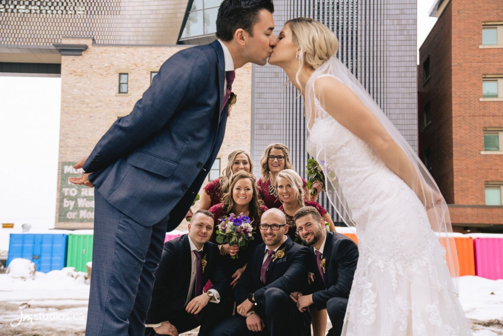 Laura and Nico's #Wedding photos at East Village Junction. Images by Calgary Wedding Photographers JM Photography © 2018 http://www.JMstudios.ca #JMweddings #JMstudios #JMevents #JMphotography #WeddingPhotography #WeddingPhotographers #MillstoMoldovan #EastVillageJunction