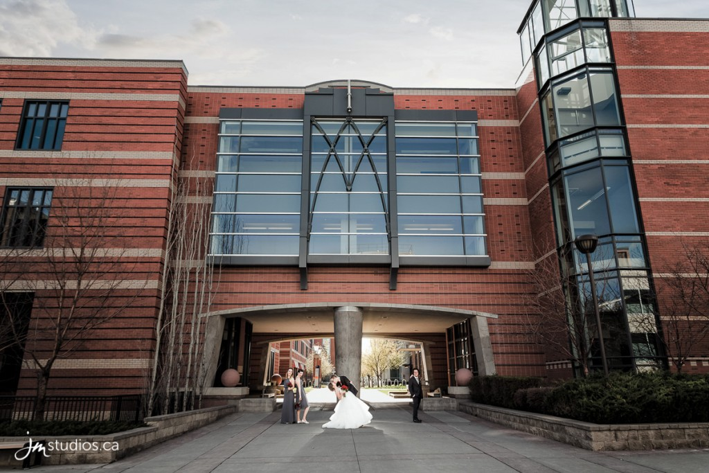 Mirrah and Jeff's #Wedding Formals on the SAIT Campus. Images by Calgary Wedding Photographers JM Photography © 2018 http://www.JMstudios.ca #JMweddings #JMstudios #JMevents #JMphotography #WeddingPhotography #WeddingPhotographers #MacKeegan2018 #SAIT #SAITwedding #YYCevents #HeritageHall #YYCweddings #SAITcampus