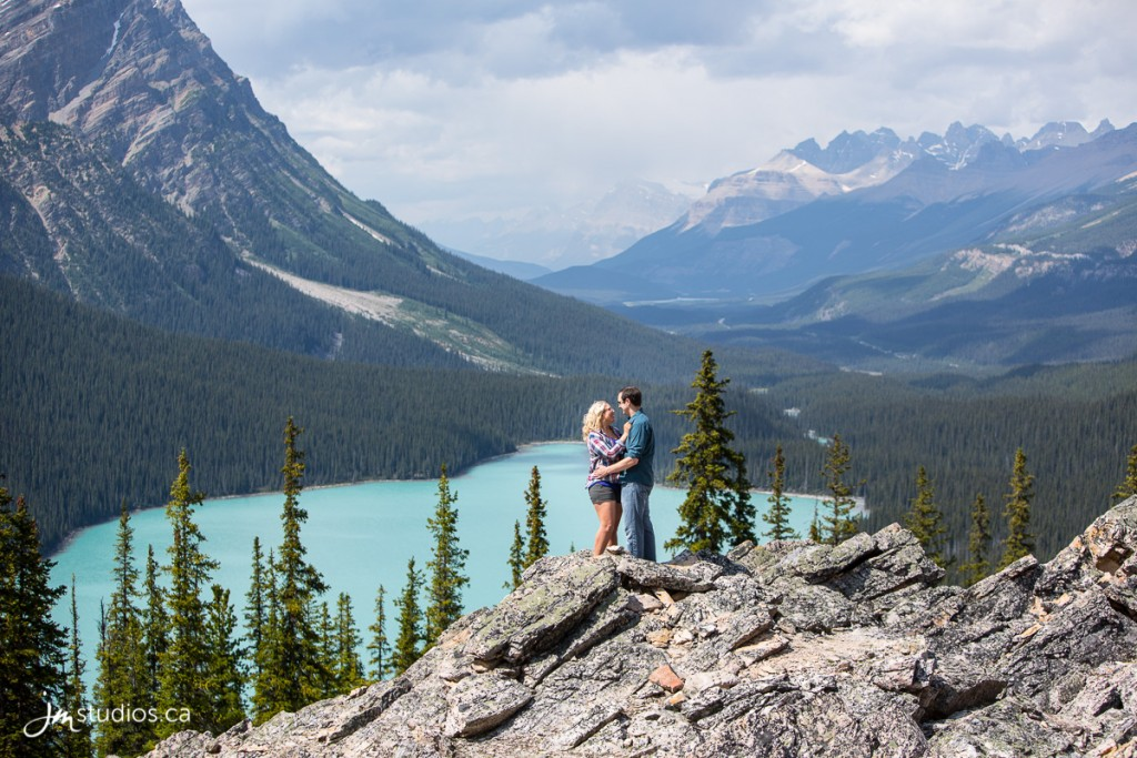 Amy and Zach's #Engagement Session at Peyto Lake in Banff National Park. #EngagementPhotos by Calgary Engagement Photographers JM Photography © 2018 http://www.JMstudios.ca #JMstudios #JMweddings #JMphotography #CalgaryWeddingPhotographer #EngagementPhotography #CalgaryBride #YYCphotographer #peytolake #mountains #mountainengagement #mountainadventures #mountainromance #rockymountains #rockymountainbride #rockymountainwedding #explorealberta #explorecanada #explorebanff #mountainlake #RockyMountainBride #destinationengagement #banffengagement #banffnationalpark #adventureisoutthere #roamtheplanet #imagesofcanada #stayandwander #staywild #mountaingirls #enjoycanada #banffnationalpark