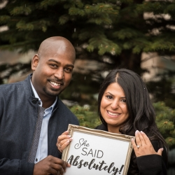 She said Absolutely! The Latour's Engagement created with Absolutely Proposals