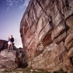 The Brouwers' Engagement Session at Okotoks's Big Rock
