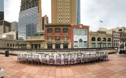 Downtown Fall Patio Paradise by Chair Flair and the Marriott Hotel