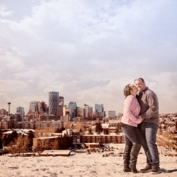 The Kaglar's Engagement Session at Calgary's Cold Garden