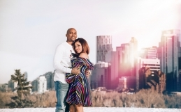 The Uyanwune's Engagement Session at Calgary's Phil & Sebastian's