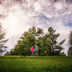 The Near's Engagement Session at Calgary's Confederation Park