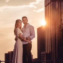 The Reuther's Engagement Session at National on 10th