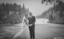 Kaglar Same Day Slideshow of their Mountain Wedding at Bow Falls